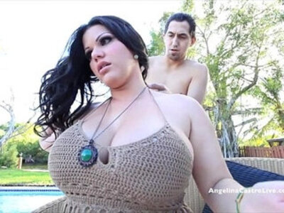 cum on tits  gay  outdoor  pool   porn video
