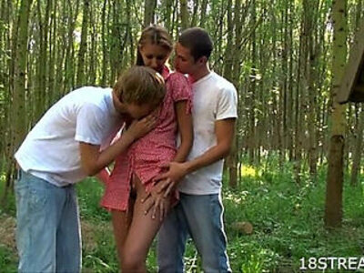 3some  outdoor  students   porn video