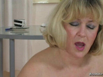 blonde boy granny young  porn video