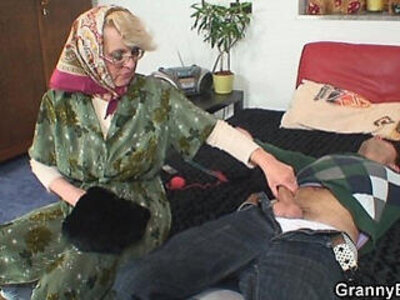granny  older  stranger   porn video