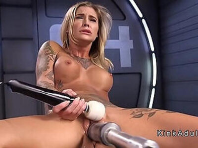 blonde  orgasm  sex machine  stunning   porn video