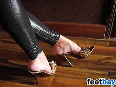 exotic  foot  high heels  teasing   porn video