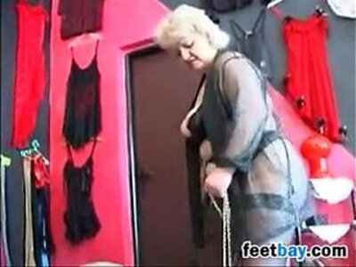 foot  grandma  granny  slave   porn video