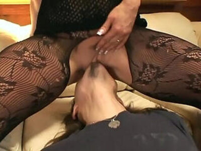 couch facesitting oral pantyhose  porn video